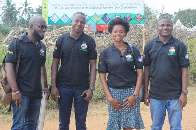 School Farms programme team. From left, Delali Adevu, Bance Salifu, Josephine Agbeko and Alfred Adjabeng